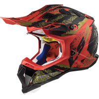 CASCO LS2 MX470 CLAW MAT BLACK RED