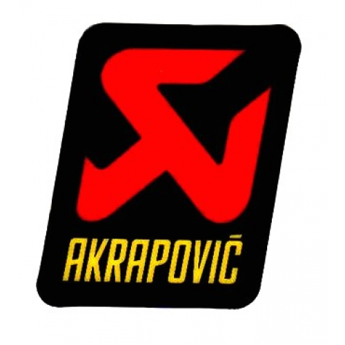 STICKER AKRAPOVIC.60x57 F. CARBON