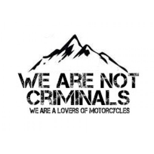 ADHESIVO WE ARE NOT CRIMINALS